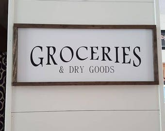 Handcrafted Home Decor signs - Groceries & Dry Goods