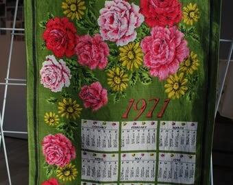 1971 Calendar Tea Towel