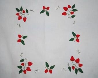 Tablecloth - Strawberry Applique