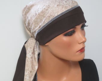 CHEMO scarf TURBAN easily luftigDreieckstuch chemo cloth surgical hood alopecia hair loss rather than a wig cancer Caner