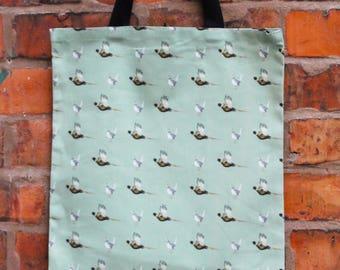 Pheasant pattern Tote Bag