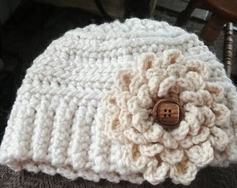 Super snuggly handmade crocheted winter hat
