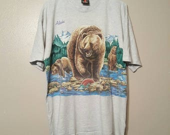 Vintage All Over Print Bear Shirt