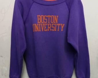 Vintage 80s Boston University sweatshirt S