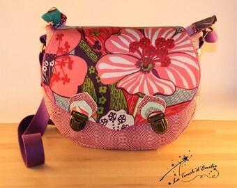 Coated matte Floral Messenger bag