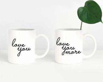 Valentines Couple Mug Set, Couple Mugs, Wedding Mug Set for Couples, Engagement Mug Set, Engagement Mug Gift, Valentines Mug for Wife