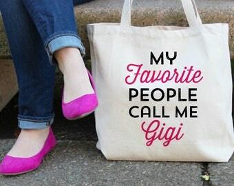 My Favorite People call me Gigi Canvas Tote Bag