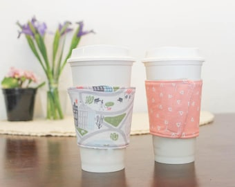 Spring Walk in the Park Coffee Sleeve - Melon