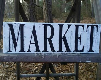 Market Wooden Sign Home Decor Kitchen Country Decor Primitive Decor Rustic Decor Vintage Decor Farmhouse Decor