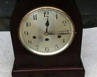 1933 Antique Large German Junghans Mantel Shelf Clock Working Westminster Gong