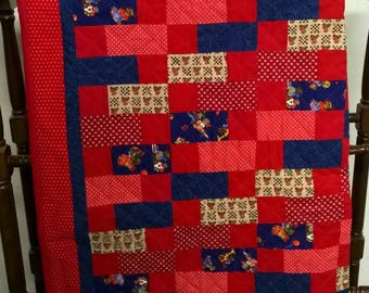 Beautiful Red Baby Quilt