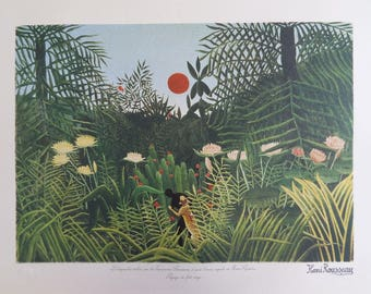 The customs officer ROUSSEAU (Henry): Forest landscape - original LITHOGRAPH #1976