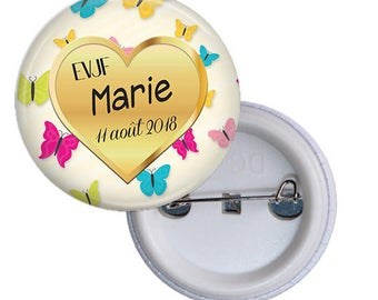 1 badge Future bride - Bachelorette party bachelor party girl life - name and date customizable @1