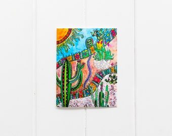 Every Day Cards/Watercolor Cactus Cards/Cactus Card Set/Multi buy cards/Thank you cards/Saguaro Cactus Card/Southwest/6 card pack