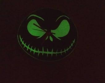 Glow in the dark pumpkin head clock