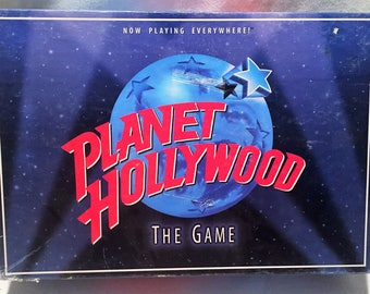 Planet Hollywood The Game Board Game Milton Bradley 1997 COMPLETE FREE SHIPPING