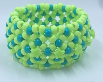 Green Star Kandi Cuff- FREE Gift Included