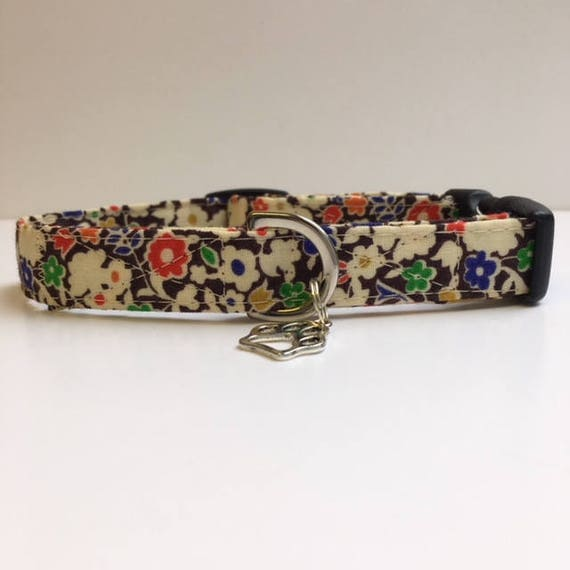 Sale Dog Collar, Floral Dog Collar, Maggie Dog Collar, Dog Collar UK