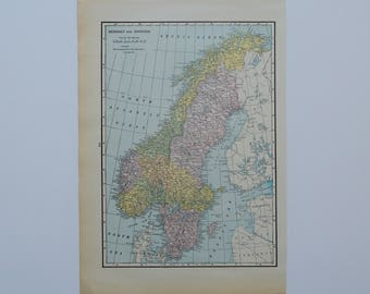 Nordic Countries Map Etsy - Norway map to print