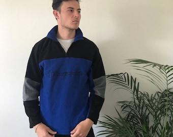 Beaut blue champion quarter zip up fleece, size M