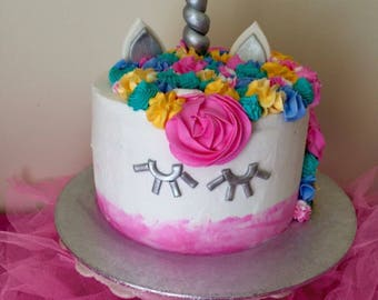Unicorn cake topper set