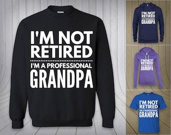 I'm not retired I'm a professional grandpa Christmas gift idea hoodie, sweatshirt sweater, LS, long sleeve, Unisex T-Shirt Mens funny