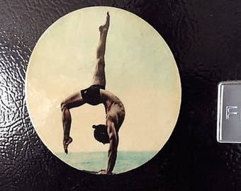 Hot Male Yoga Refrigerator Magnet, Yoga Art Magnet,Male Yoga Magnet, Gay Pride, Gay Male Art, Hot Yoga, Gay Gifts, Gift Ideas, Male Yoga Art