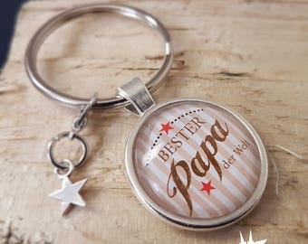 Dad Keychain / best dad father's day gift, the world / father gift