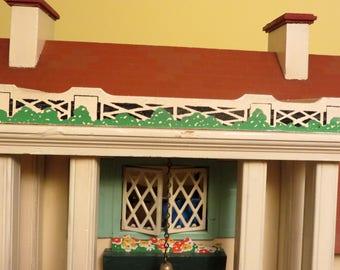 Keystone balustrades and bushes