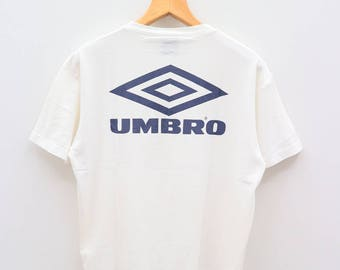 Vintage UMBRO Big Logo Sportswear White Tee T Shirt Size M-L