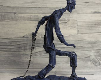 KZ HOMINIS - SONDERKOMMANDO WW2 - mixed media Sculpture