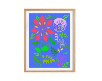 Flower Illustration Giclee print 21 x 29.7 cm