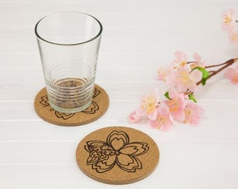 Japanese pattern coaster pattern 2 piece set