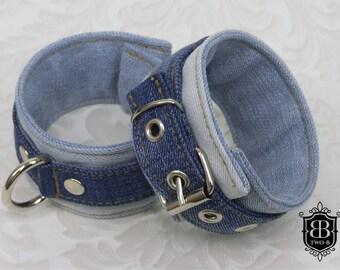 Handcuffs BDSM bondage restraints all blue