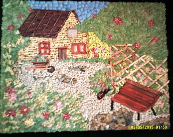 cottage percheronne in green the Perche region.