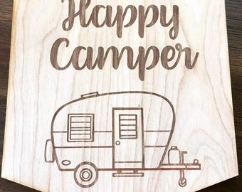 "The ""Happy Camper"" Plaque"