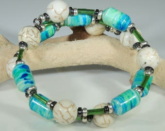 Tie Dye 01 (Upcylced Paper Bead Bracelet/HPBW0005)
