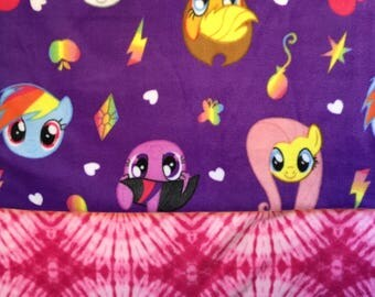 My Little Pony Fleece Blanket / Rainbow dash / applejack / fluttershy / mlp / brony /