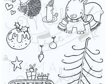 Mama Makes x Sarah Jumbo Stamps - A Christmas Journey - 15 Stamps