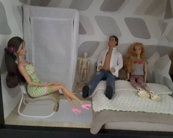Barbie 1/6 scale canvas wardrobe..
