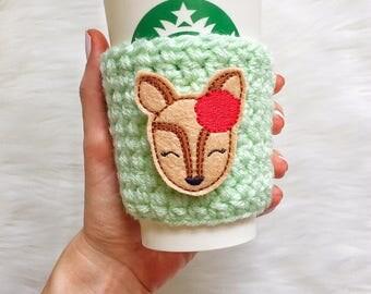 Deer Cup Sleeve, Deer Coffee Cozy, Deer Gift