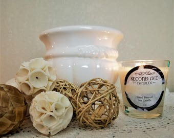 Gardenia Scented 5oz Glass Container Candle