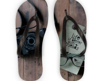 Life Is Better With Friends Flip Flops Free Worldwide Shipping!