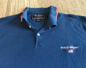 Vintage 90s Ralph Lauren Polo Sport Polo