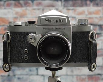 Vintage Miranda D 35mm SLR film camera with 50mm (5 cm) f/1.9 Soligor Miranda lens