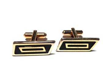 Cufflink * Hickok. U.S.A. * antique gold Pl