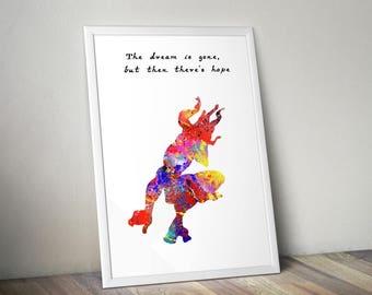 Tarzan inspired ART PRINT illustration, Disney, Princess, Wall Art, Home Decor, Quote