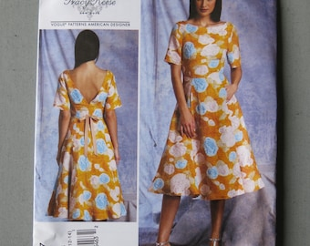 Sewing pattern, dress, v1307, vogue American designer Tracy Reese