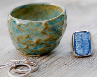 Jewelry Dish - Salt Dish - Pottery Jewelry Dish - Jewelry Bowl - Ring Bowl - Trinket Dish