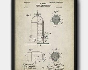 Coffee making machine · 1903 · Vintage · Patent · Instant download · Printable #173